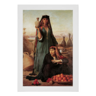 Women Selling Water and Oranges... Poster