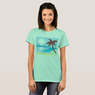 Women t-shirt with Exotic vacation