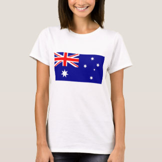 Women T Shirt with Flag of Australia