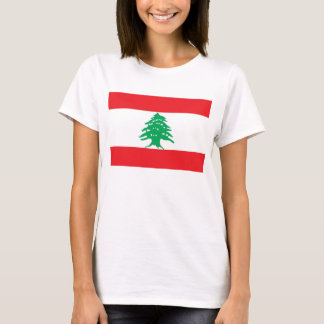 Women T Shirt with Flag of Lebanon