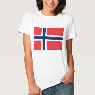 Women T Shirt with Flag of Norway