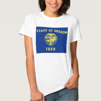 Women T Shirt with Flag of Oregon State