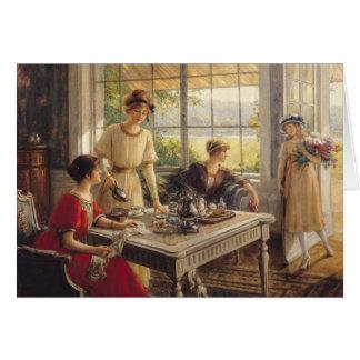 Women Taking Tea Card