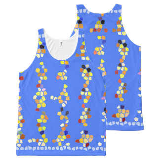 Women Tank Top blue multi custom All-Over Print Tank Top