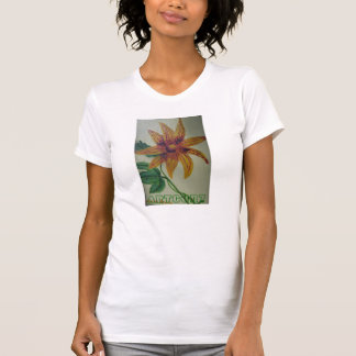WOMEN TANK TOP FITTED - BUTTON FLOWER