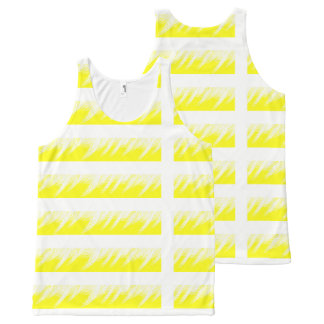 Women Tank Top Yellow White custom All-Over Print Tank Top