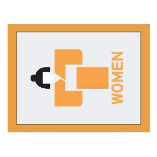 Women toilet, Japanese Sign Postcard