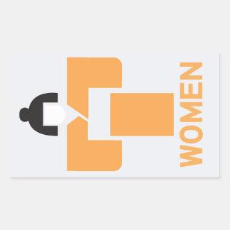 Women toilet, Japanese Sign Rectangular Sticker