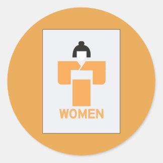 Women toilet, Japanese Sign Round Sticker