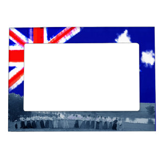 Women Tug-O-War Photo Tug of War Australia Flag Magnetic Frame