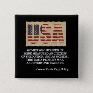 Women Veterans Day Button