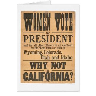 Women Vote Broadside (1873A) Greeting Card