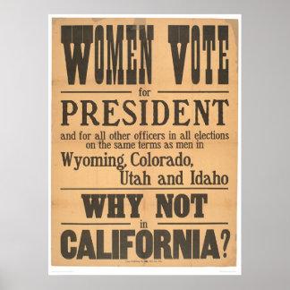 Women Vote Broadside (1873A) Poster