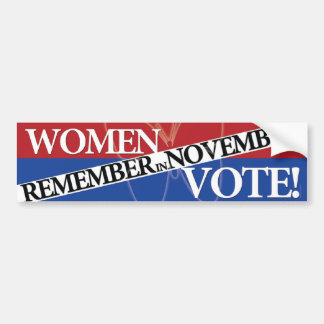 Women Vote - Remember in November 9 Bumper Sticker