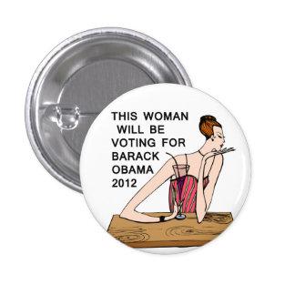 Women Voting For Barack Obama Button