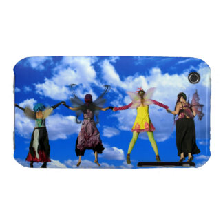 Women wearing fairy costumes flying through the iPhone 3 cases