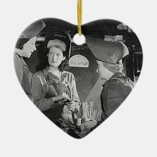 Women Welders Ceramic Heart Decoration