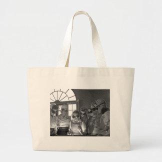 Women Welders in WWII, 1940s Jumbo Tote Bag