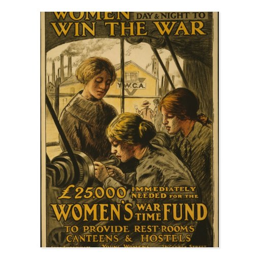 Women Win the War Postcard