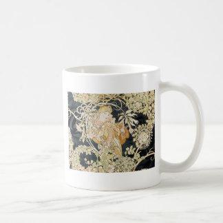 Women with Daisies Art Nouveau Coffee Mug