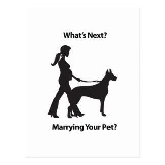 women with pet.pdf postcards