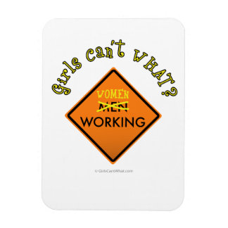 Women Working Road Sign Rectangle Magnet
