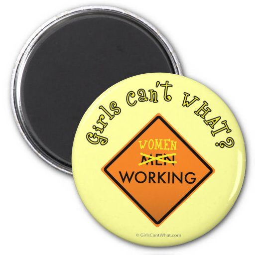 Women Working Sign Magnet