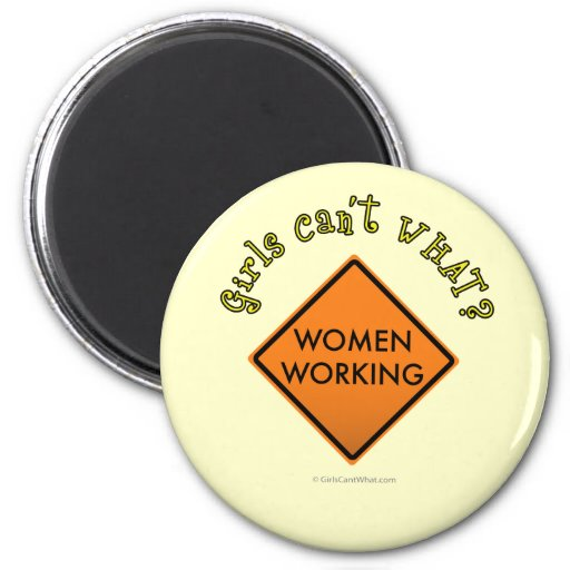 Women Working Sign Magnets