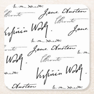 Women Writers Square Paper Coaster