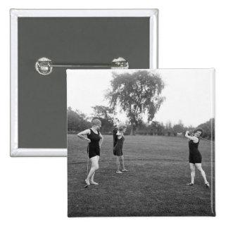 Women's 1920s Golf Fashion 15 Cm Square Badge