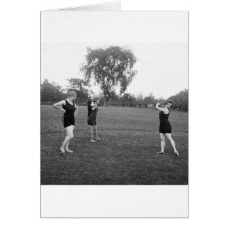 Women's 1920s Golf Fashion Card