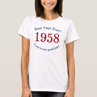 Women's 1958 ♥ Best Year Ever! 60th Birthday Shirt