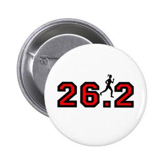 women's 26.2 marathon 6 cm round badge