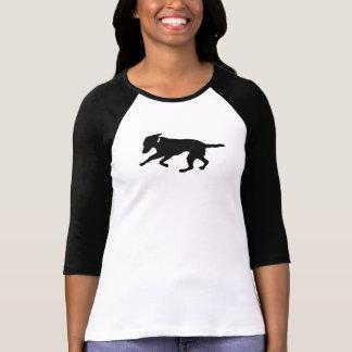 Women's 3/4 raglan shirt playful black lab