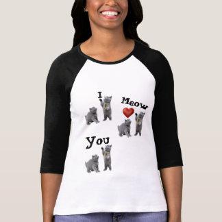 Women's 3/4 Sleeve Cat Lovers Raglan T-Shirt