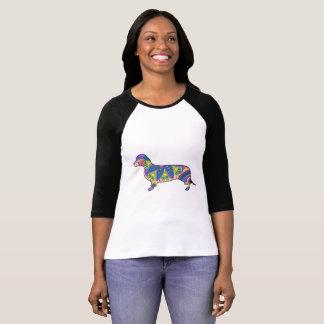 Women's 3/4 Sleeve Raglan T-Shirt Dachshund
