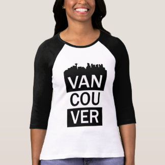 Women's 3/4 sleeve t-shirt - Vancouver lettering
