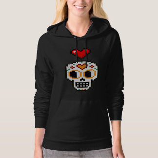 Women's 8-Bit Day of the Dead Lovergirl Hoodie