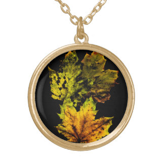 Women's accessories fall leaf necklaces