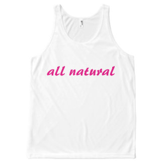 Womens 'all natural' Brand Tank All-Over Print Tank Top