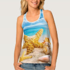 Women's All-Over Print Racerback Tank Top/Beach