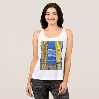 Women's All Performance Tank Top - Saguaro Pillars