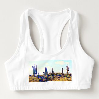 "Women's Alo Sports Bra ""Saguaros on The Hill"""