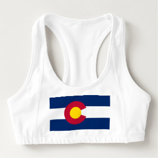 Women's Alo Sports Bra with flag of Colorado