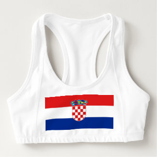 Women's Alo Sports Bra with flag of Croatia