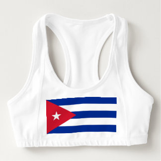 Women's Alo Sports Bra with flag of Cuba