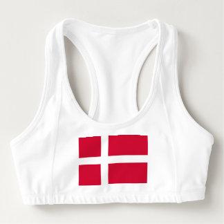 Women's Alo Sports Bra with flag of Denmark