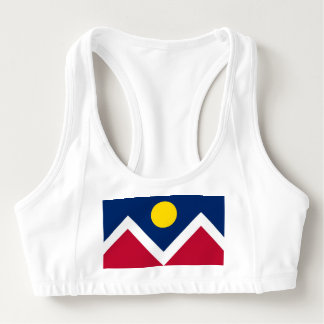 Women's Alo Sports Bra with flag of Denver