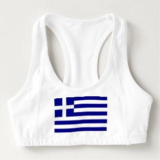 Women's Alo Sports Bra with flag of Greece