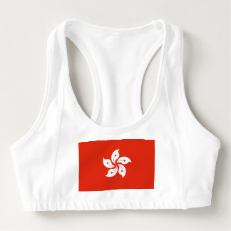 Women's Alo Sports Bra with flag of Hong Kong